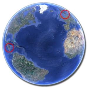 Nicaragua og Danmark i verden