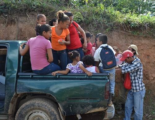 Transport på landet i Nicaragua.